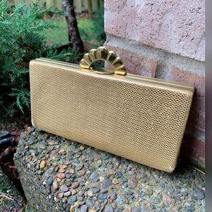 Lovely, VINTAGE, metallic, gold purse!!